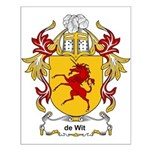 de Wit Coat of Arms Small Poster