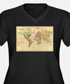 Vintage Map of The World (1831) Plus Size T-Shirt