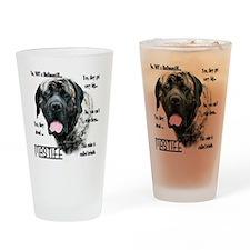 Mastiff(brindle)FAQ Drinking Glass