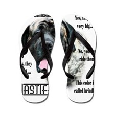 Mastiff(brindle)FAQ Flip Flops