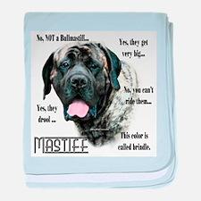 Mastiff(brindle)FAQ baby blanket