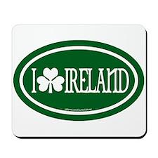 I Love Ireland Euros Mousepad