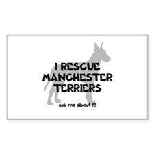 I RESCUE Manchesters Decal