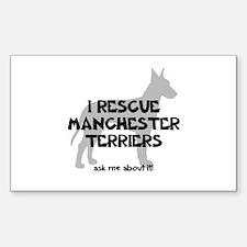 I RESCUE Manchesters Sticker (Rectangle)