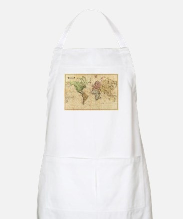 Vintage Map of The World (1831) Light Apron