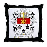 Van den Water Coat of Arms Throw Pillow