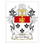 Van den Water Coat of Arms Small Poster