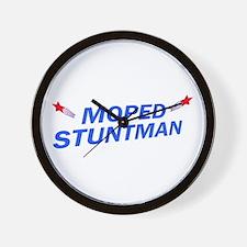 Moped Stuntman Wall Clock