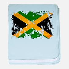 Jamaica Flag baby blanket
