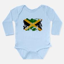 Jamaica Flag Long Sleeve Infant Bodysuit
