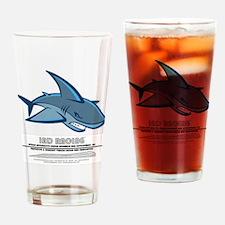 Cute Shark logo Drinking Glass