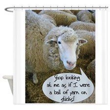 Funny Knit Shower Curtain