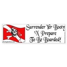 Surrender Yer Booty Bumper Bumper Sticker