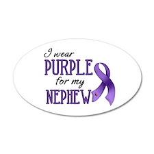 Wear Purple - Nephew 38.5 x 24.5 Oval Wall Peel