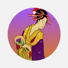 Geisha Girl Ornament (Round)