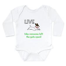 Live the gates open Long Sleeve Infant Bodysuit