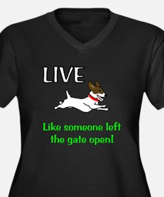 Live the gates open Women's Plus Size V-Neck Dark
