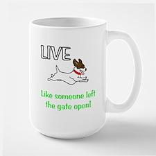 Live the gates open Large Mug