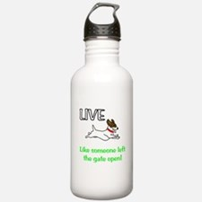 Live the gates open Sports Water Bottle