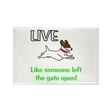 Live the gates open Rectangle Magnet