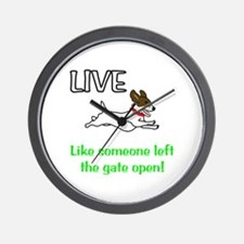 Live the gates open Wall Clock