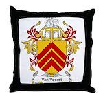 Van Voorst Coat of Arms Throw Pillow