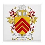 Van Voorst Coat of Arms Tile Coaster