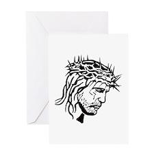 Jesus Face Greeting Card