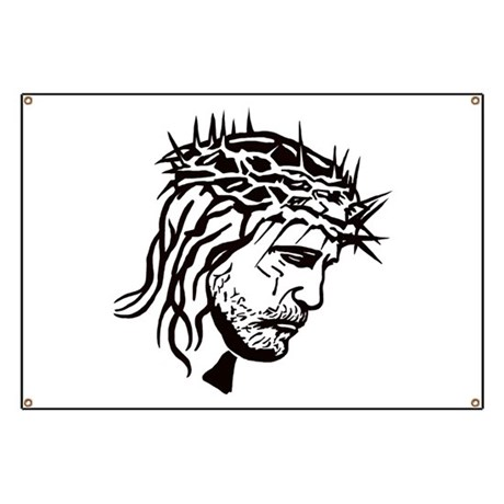 Jesus Face Banner by YouLikeThisShop