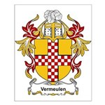 Vermeulen Coat of Arms Small Poster