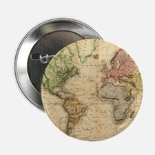 "Vintage Map of The World (1831) 2.25"" Button"