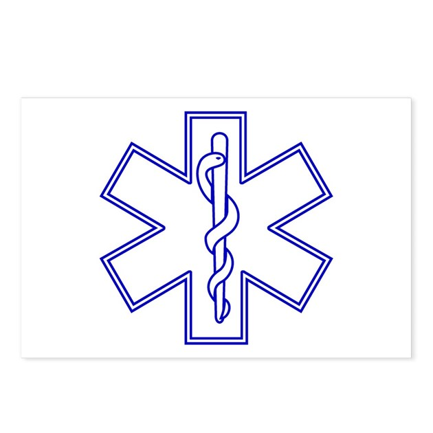 Blue Star Of Life Outline Postcards Package Of By Pinkg