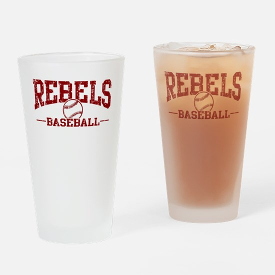 Rebels Baseball Drinking Glass
