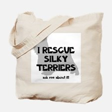 I RESCUE Silky Terriers Tote Bag