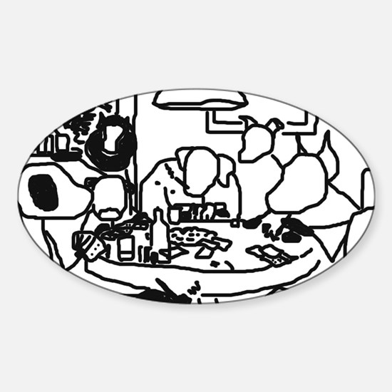 Dogs Oval Decal