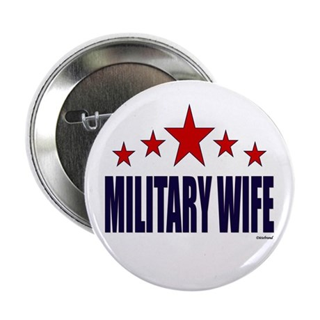"""Military Wife 2.25"""" Button"""