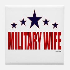 Military Wife Tile Coaster