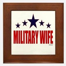 Military Wife Framed Tile