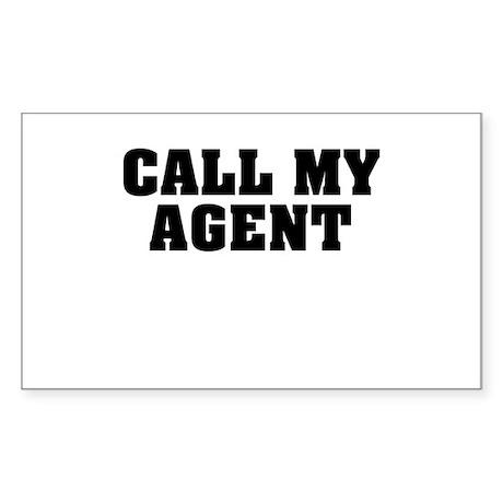 Call My Agent Sticker (Rectangle)
