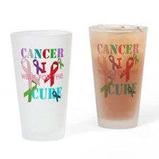 I walk for the Cure of Cancer Drinking Glass