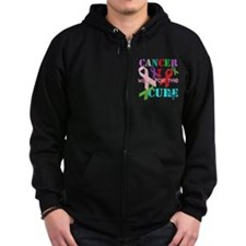 I walk for the Cure of Cancer Zip Hoodie