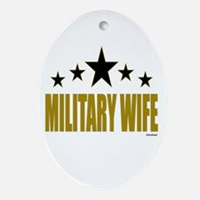 Military Wife Ornament (Oval)