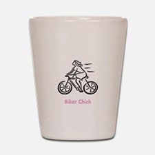 Funny Bicycles Shot Glass