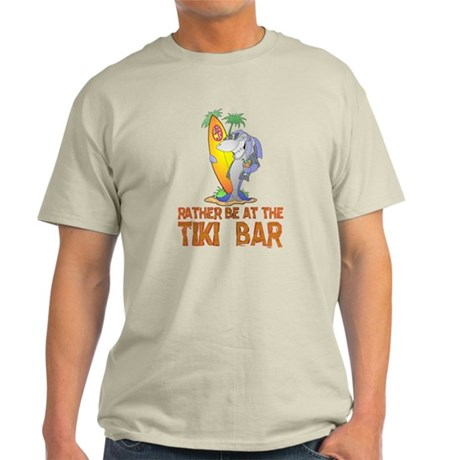 Rather be..... Tiki Shark Light T-Shirt