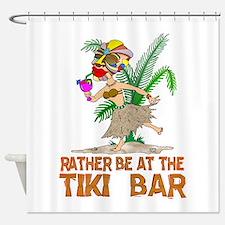Rather be.... Tiki Goddess Shower Curtain