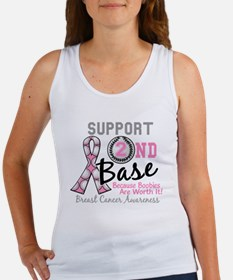 - Support 2nd Base Breast Cancer Tank Top