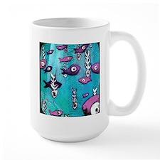Blue Fish & Bone Mug