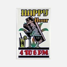 Happy Hour Art Deco Bar Rectangle Magnet