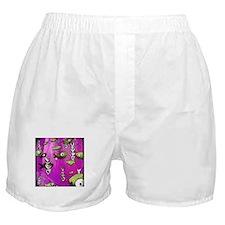 Pink Fish & bone Boxer Shorts