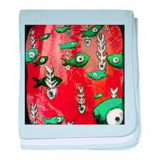 Red Fish & Bone baby blanket